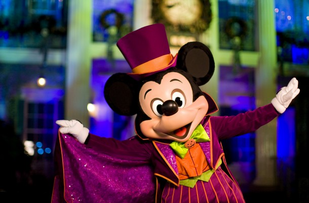 MICKEY'S HALLOWEEN PARTY (ANAHEIM, Calif.) – Guests will celebrate Halloween Time at the Disneyland Resort as they interact with some of Disney's most beloved characters decked out in seasonal costumes, including Mickey Mouse. Mickey's Halloween Party returns for 17 nights in 2016 beginning Friday, Sept. 23. Guests are encouraged to dress up for a ghoulish good time and enjoy seasonal scares such as Space Mountain Ghost Galaxy and Haunted Mansion Holiday. (Paul Hiffmeyer/Disneyland Resort)