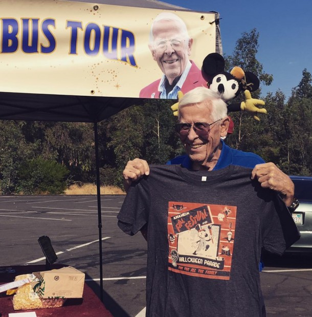 2014 Grand Marshall Bob Gurr was only too happy to model this year's shirt last weekend!