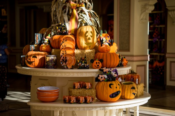 Halloween decor in the Emporium.