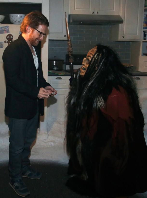 "UNIVERSAL CITY, CA - SEPTEMBER 16: Actor Seth Green (L) attends Universal Studios ""Halloween Horror Nights"" opening night at Universal Studios Hollywood on September 16, 2016 in Universal City, California.  (Photo by Rich Polk/WireImage)"