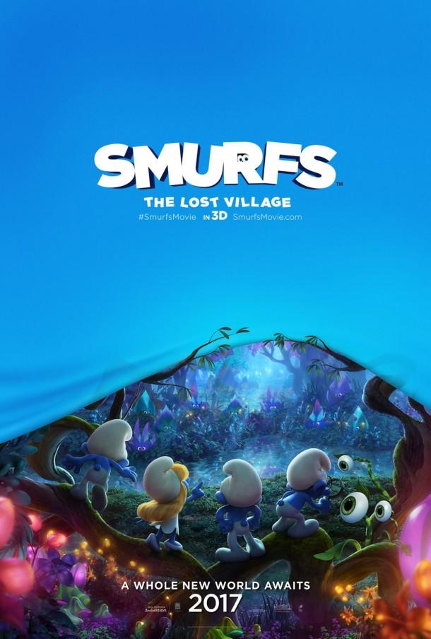 Smurfs Domestic Poster