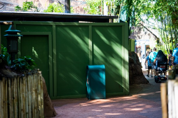 Large section of the Marajahah Jungle Trek closed for refurbishment.