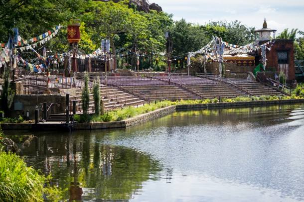 The audience area for Rivers of Light sits dormant while Disney has given no update as to the opening of this highly anticipated show.