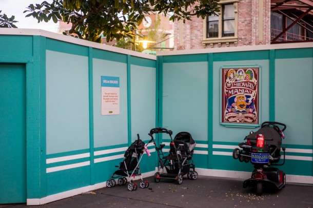 The walls by the old Writer's Stop have been pushed further into guest territory.