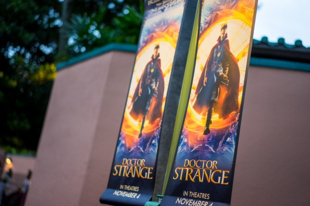 Doctor Strange signs up in the animation area.