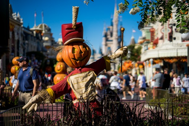 Fall decor will soon be replaced with holiday decor on Main Street.