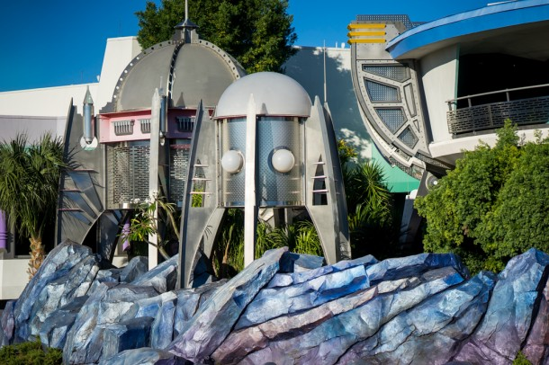 The blue rocks in Tomorrowland are all finished, and look interesting.