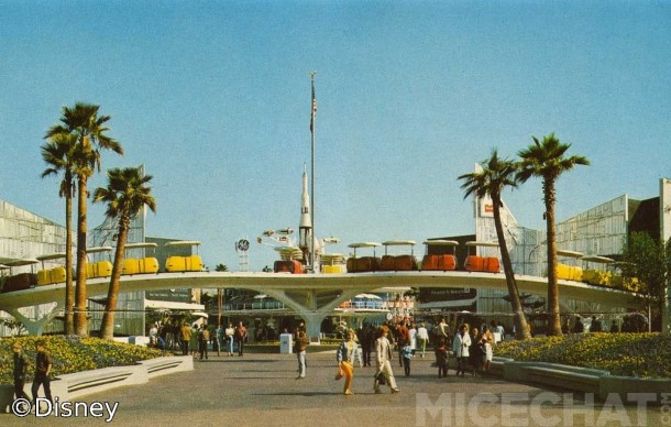 New Tomorrowland Entrance - c. 1970