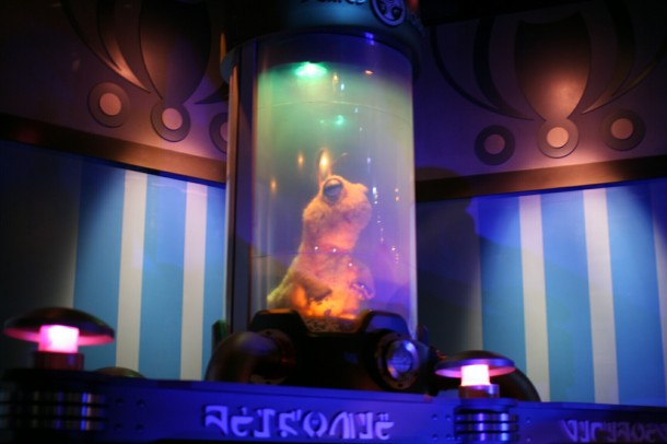 The briefing room animatronics weren't even changed for Stitch; just their names and backstory.