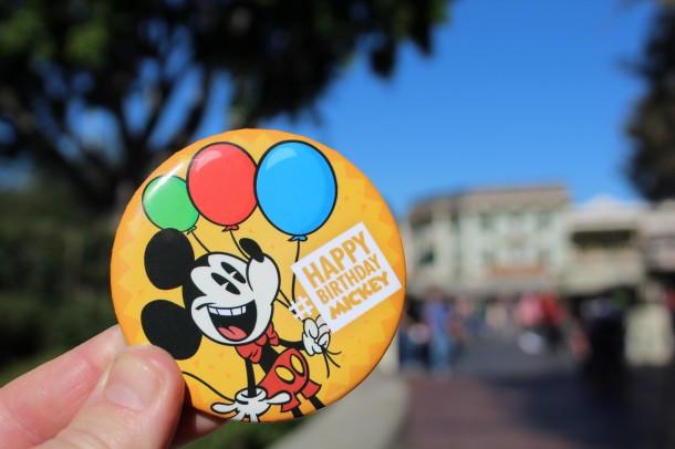 Happy Birthday Mickey Mouse at Disneyland