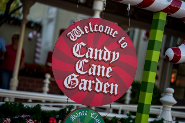 Candy Cane Garden is all setup for Santa meet and greets.