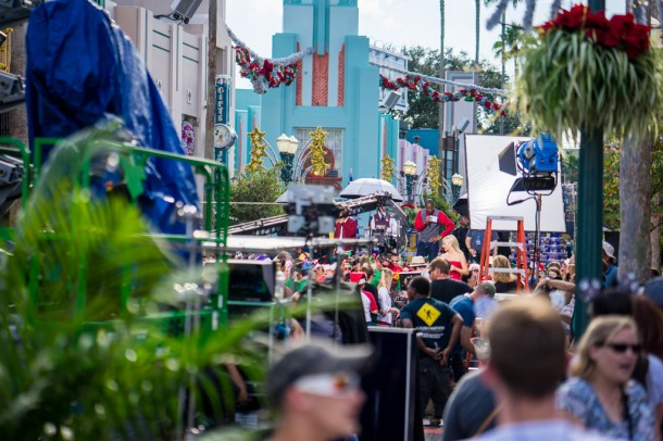 Filming took place this weekend for the Disney Holiday Special show.