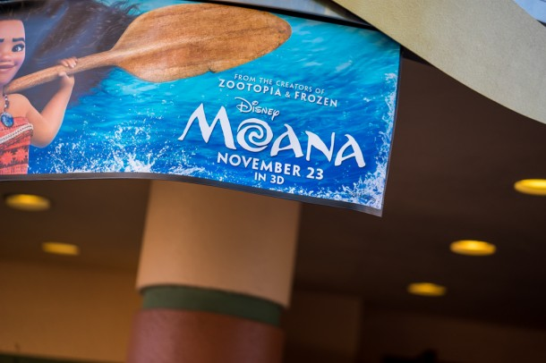 A Moana preview is now happening in the One Man's Dream theater.