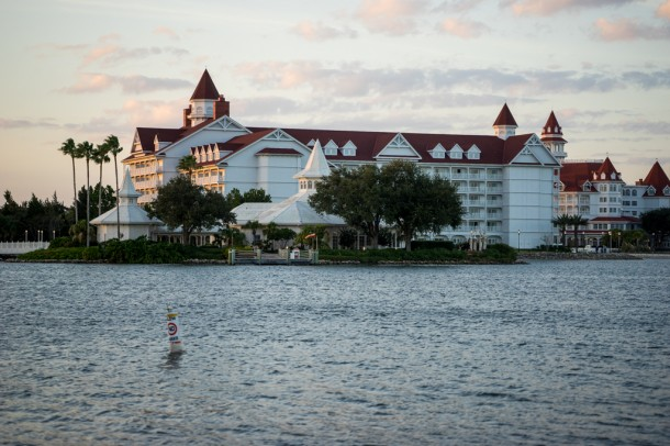 Worth walking over to the Grand Floridian at sunset to get the nice views.