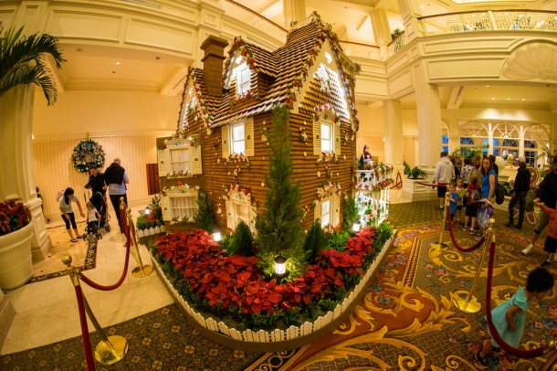 The large gingerbread house is back, and as always, they are selling gingerbread from inside of it.