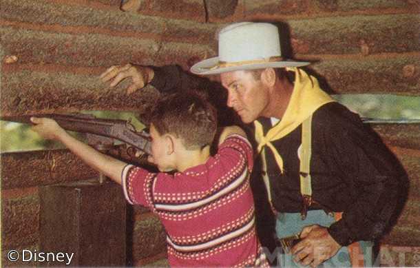 "Soldier trains a ""young 'un"" to defend the Fort."