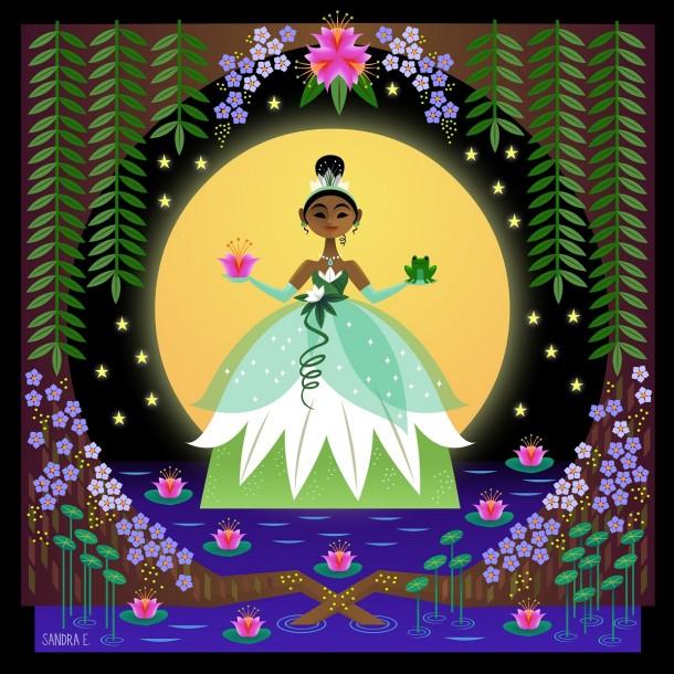 Princess Tiana by Sandra Equihua