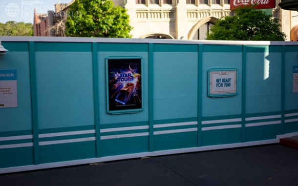 Walls went up early in the year to prepare for the new Star Wars themed land coming to the park.