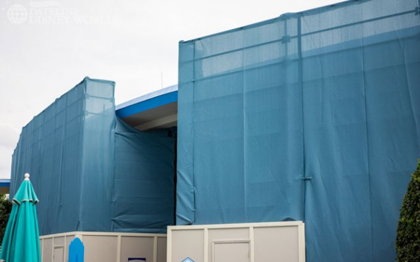 Walls went up at Carousel of Progress.