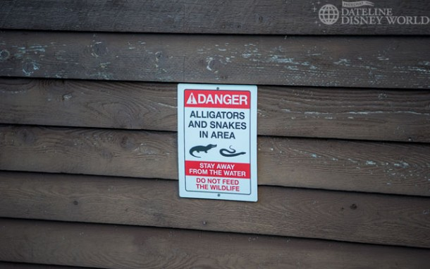 After an unfortunate incident, many new warning signs for wildlife have been placed throughout the parks and hotels.