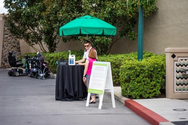 With the Zika scare, all of the Orlando parks had mosquito prevention stations.
