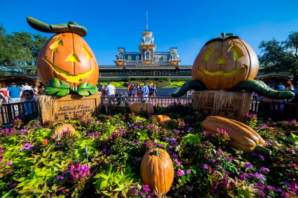 Halloween was celebrated at the Magic Kingdom.