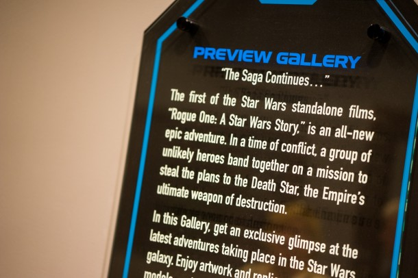 The preview gallery that had The Force Awakens props now has Rogue One props.