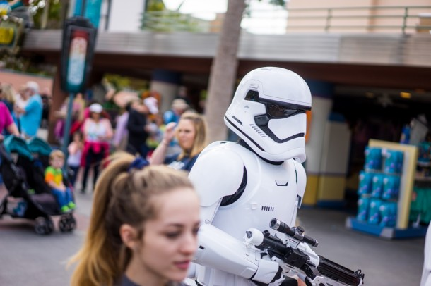 Supposedly, there will be Death Troopers roaming the area, but when we visited, it was just Stormtroopers.