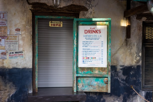 These photos were taken at about 3:45 and most of the eateries in Harambe Market were closed.