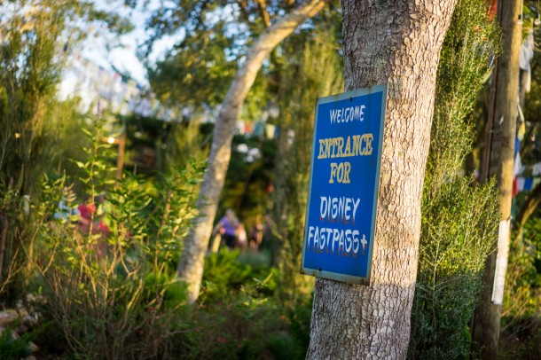 New Fastpass+ signs near the entrances.