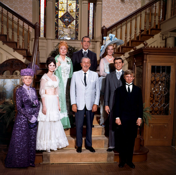 Walt with MacMurray and the rest of the cast of The Happiest Millionaire, shortly before his death