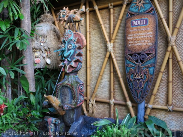"""Maui"" is the very first sculpture (of any kind) that Rolly ever did. One of his sculpting tools was a plastic fork! There's also a great ""Walt"" story about this statue...go buy Rolly's book!"