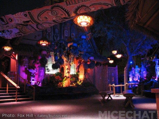 The enchanting Lanai of the Tiki Room is populated with original Crump creations. Rolly sculpted ALL of the Tiki Gods himself.