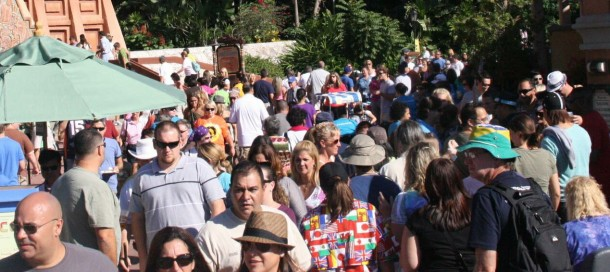 Food and Wine brings crowds.