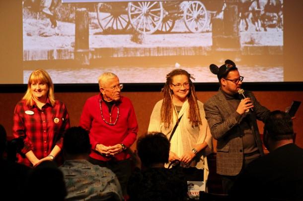 From Left: Teresa from Fairy Godmother Travel, Disney Legend Bob Gurr, with Imagineer, Author and Sculptor Terri Hardin.