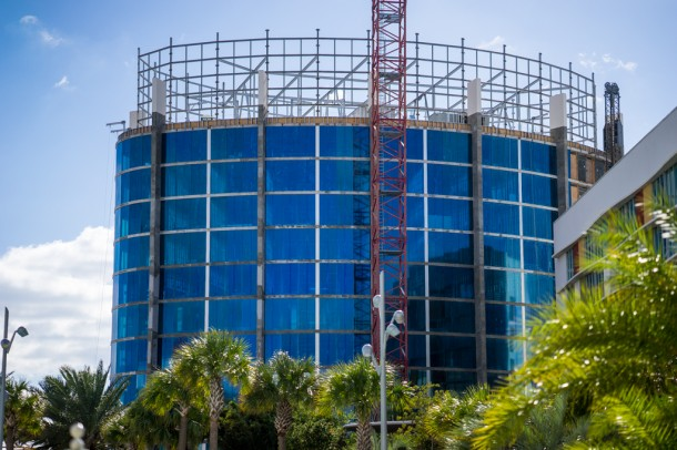 Over at Cabana Bay, two new towers of rooms are under construction.