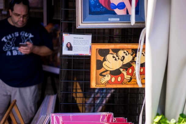 Lots of art on sale throughout the park.
