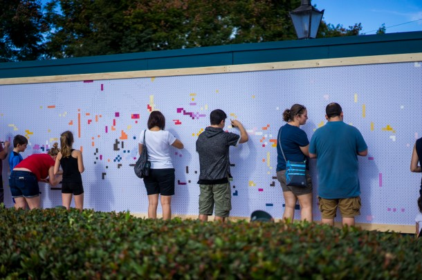 At the Expression Station, guests can individually paint a tiny square, and by the end of the day, create a mural.