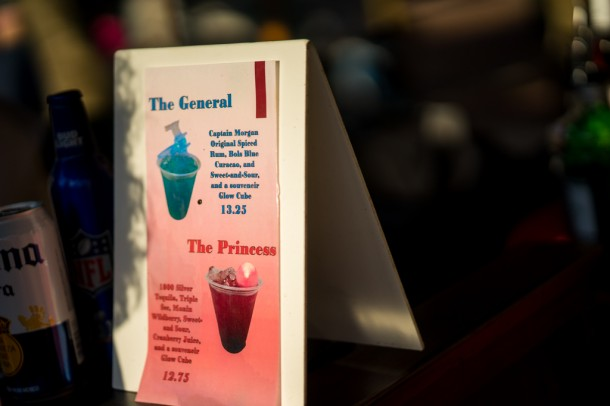Special Princess/General Leia themed drinks.