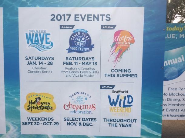 Upcoming events at SeaWorld