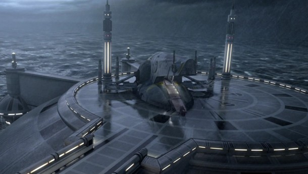 FYI...Kamino is the very rainy planet in Attack Of The Clones.