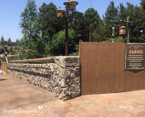 Disneyland Rivers of America Mark Twain Fantasmic Construction