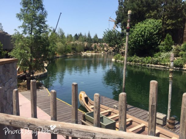 Disneyland Rivers of America Mark Twain Fantasmic Construction