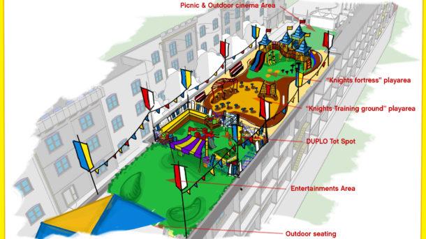 Legoland Castle Hotel The outdoor entertainment area
