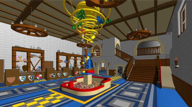 Grand Hall of the Legoland Castle Hotel