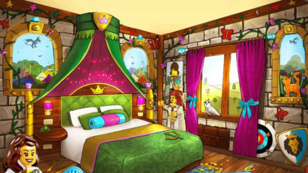 Legoland Castle Hotel Adult area of a Princess room