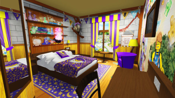 Legoland Castle Hotel Adult area of a Wizard room