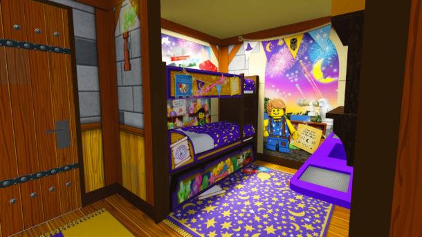 Legoland Castle Hotel Children's area of a Wizard room